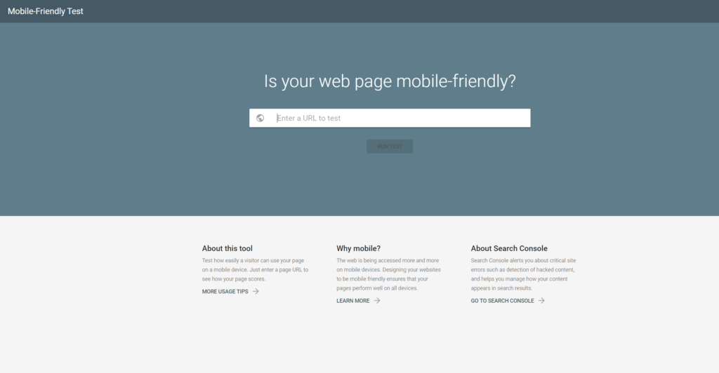 e-commerce seo Mobile Friendly test