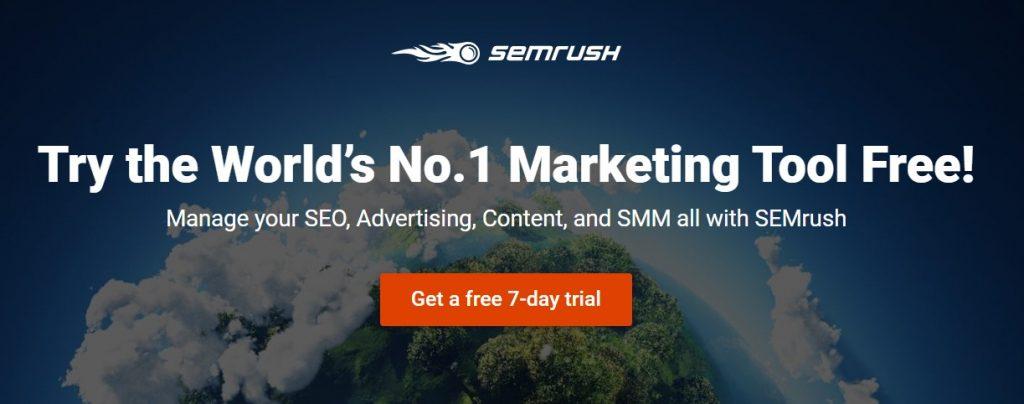 SEMrush 7 day free trial
